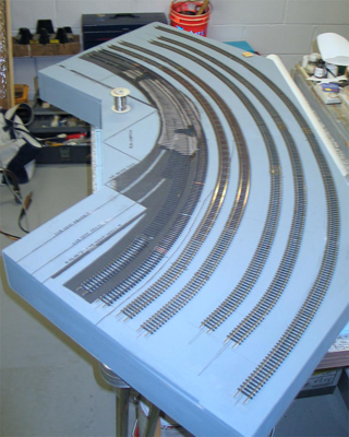 Overall view of module top, showing tracks.